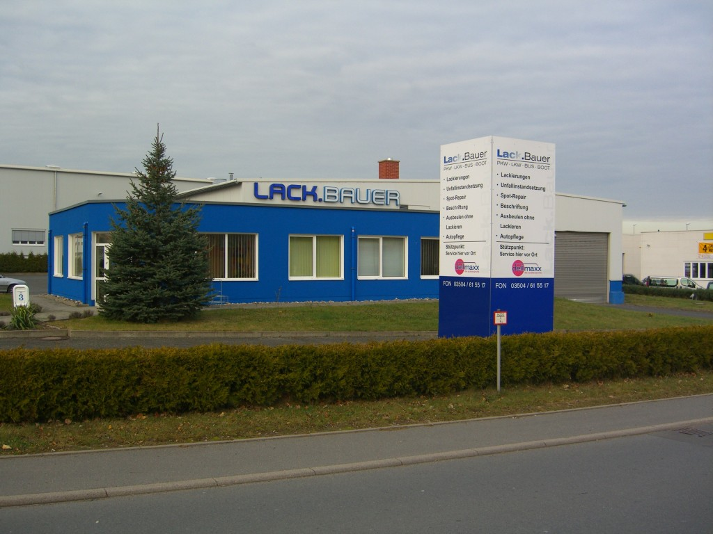 Firmengelände der Firma Lack.Bauer im Gewerbepark Dippoldiswalde
