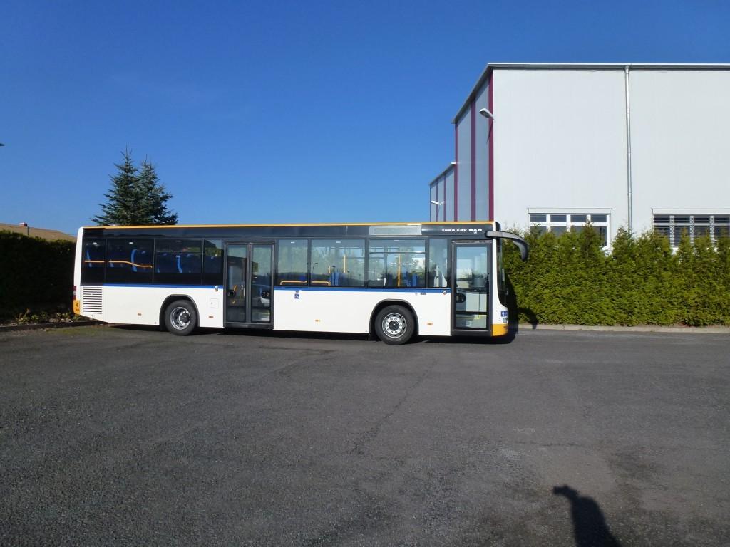 MAN Bus Seite – Teillackierung