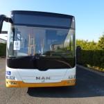MAN Bus Vorn – Teillackierung